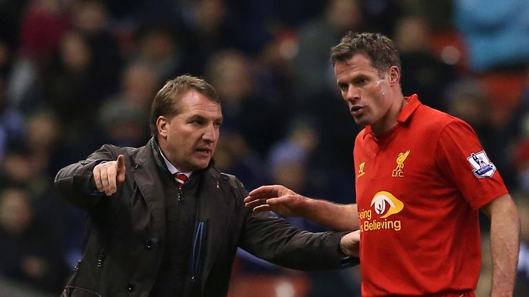 Jamie Carragher (right): Retiring at the end of the season