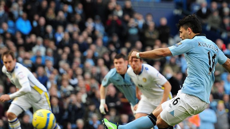 Sergio Aguero: Penalty gave Manchester City the lead in 4-0 victory