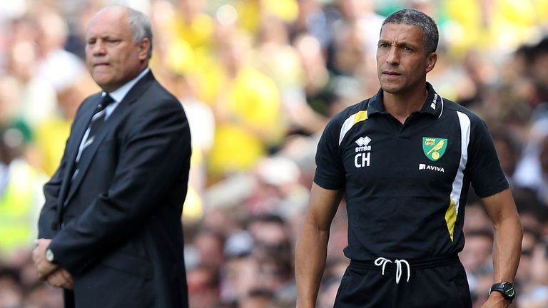 Martin Jol and Chris Hughton: Will be in opposing dugouts at Carrow Road