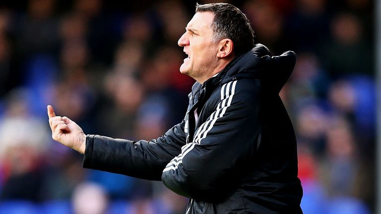 Tony Mowbray: Not happy after fourth straight loss