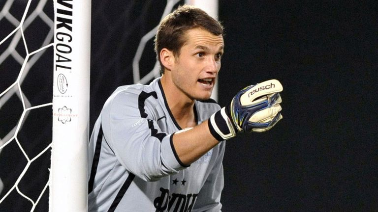 Tampa Bay Rowdies goalkeeper Andrew Fontein