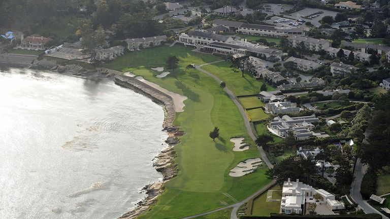 The spectacular closing hole at Pebble Beach