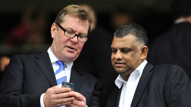Philip Beard: QPR chief executive with Tony Fernandes