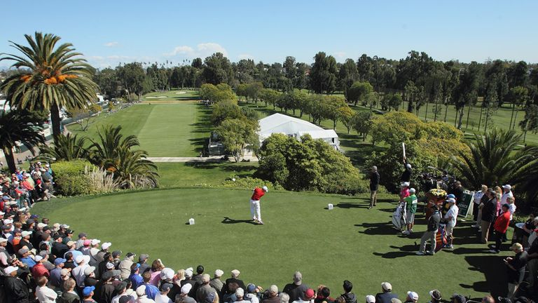 The opening tee-shot at Riviera
