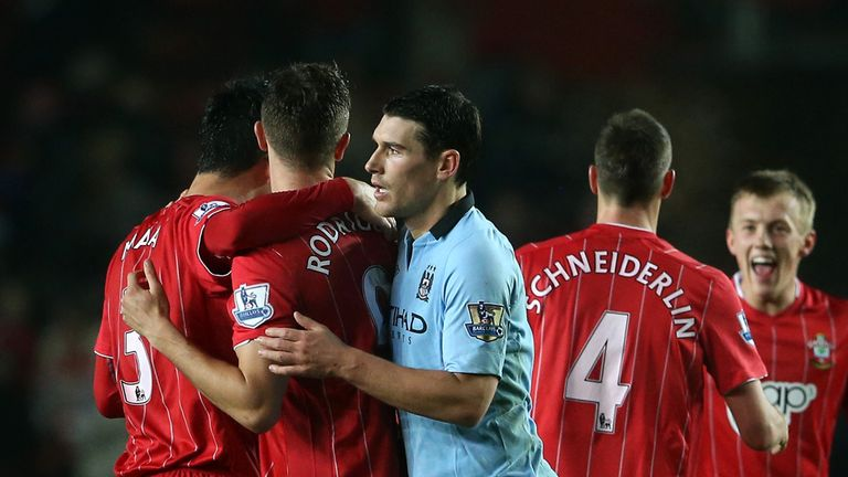 Gareth Barry and Manchester City endured a miserable afternoon