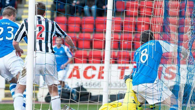 Rowan Vine: Scores the only goal at McDiarmid Park