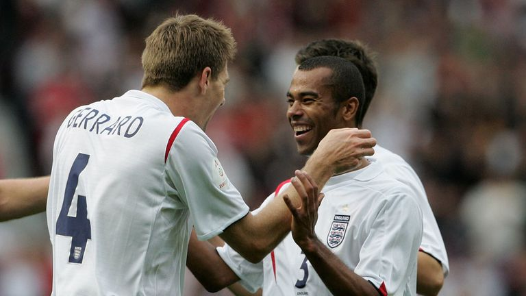Steven Gerrard: Praised England team-mate Ashley Cole ahead of Wednesday's friendly against Brazil