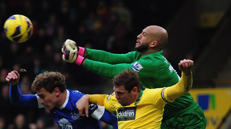 Tim Howard: Out for at least four weeks with back injury