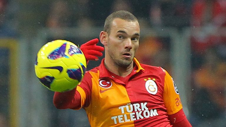 Wesley Sneijder: Galatasaray playmaker was reported to be a target for Manchester United