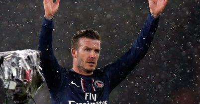 David Beckham: Made his first start for PSG in win over Marseille