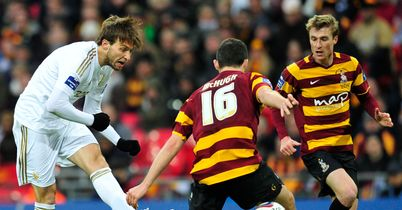 Michu: Scored his 19th of the season against Bradford