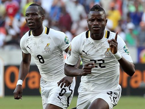 Mubarak Wakaso's brace saw Ghana progress