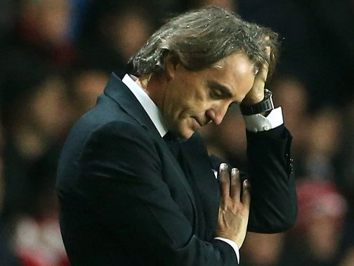 Roberto Mancini: Pressure is on at Manchester City