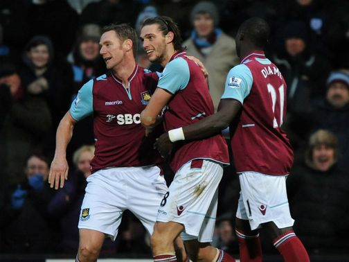 Carroll netted the only goal of the game against Swansea