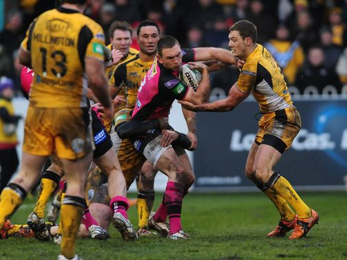 Kevin Sinfield finds his progress halted.