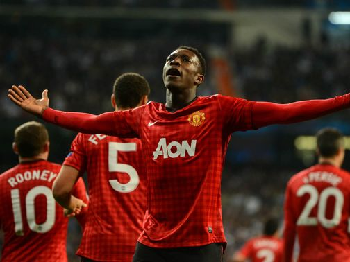 Danny Welbeck gave Manchester United the lead at the Bernabeu