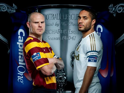 Bradford take on Swansea at Wembley.