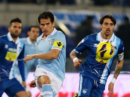 Cristian Ledesma in action for Lazio