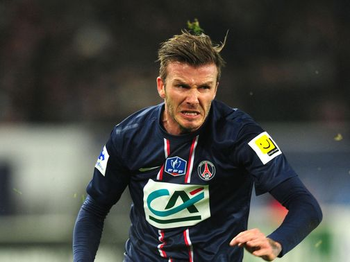David Beckham started in PSG's victory