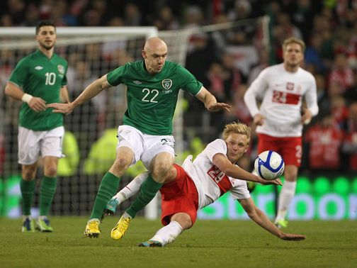 Conor Sammon made his Republic of Ireland debut