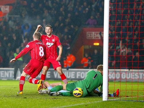 Steven Davis capitalised on a Joe Hart howler to put Southampton 2-0 up