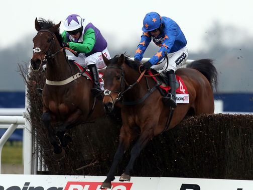 Opening Batsman (left) winning the Racing Plus Chase