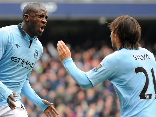 Yaya Toure fired Man City into the lead