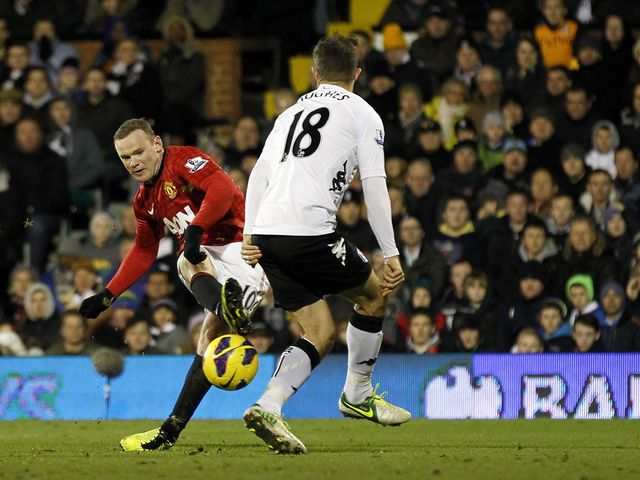 Rooney fires in the only goal of the game