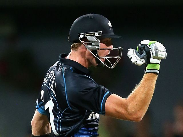 Martin Guptill played through the pain barrier for his side