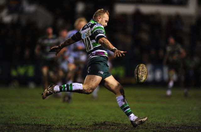 Shane Geraghty kicks for London Irish