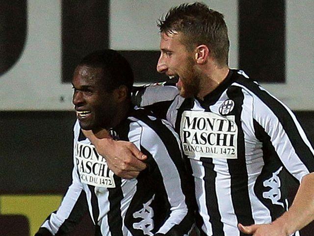 Innocent Emeghara: Twice on target for Siena