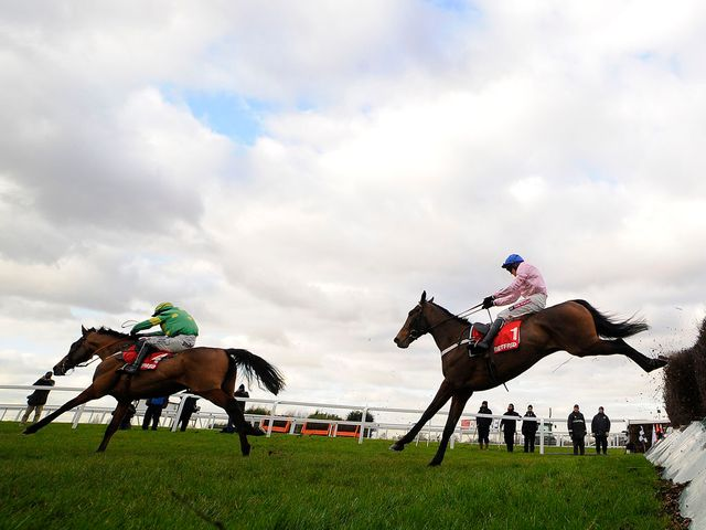 Captain Conan jumps the last in second behind Third Intention