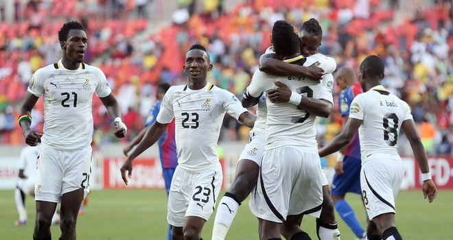 Ghana: Players celebrate making semi-finals