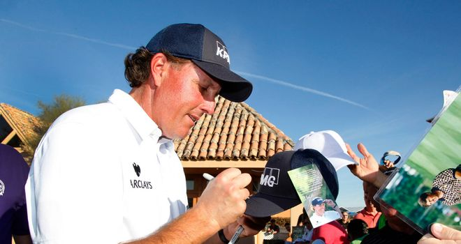 Phil Mickelson: Bouncing off the crowds in Phoenix this week