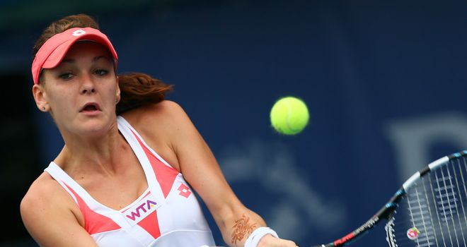 Agnieszka Radwanska: Pole's serve misfired early on