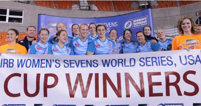 England Women celebrate their success (Pic: IRB/Paul Rudman)