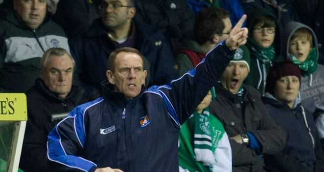 Kenny Shiels: Unimpressed with St Johnstone reverse