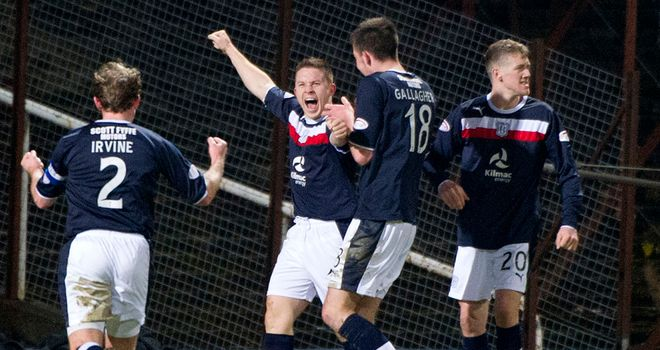 John Baird: Celebrates his goal against St Johnstone