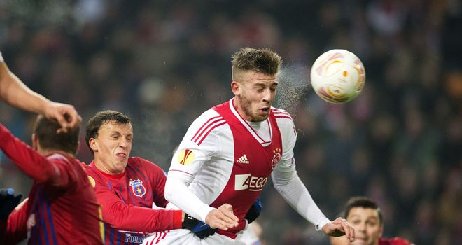 Toby Alderweireld: Fought off challenges to score Ajax's opening goal