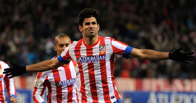 Diego Costa celebrates the only goal