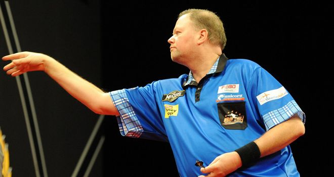 Raymond van Barneveld: Proved too hot for Wes Newton in Aberdeen