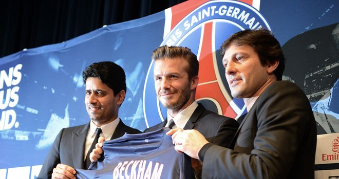 David Beckham desperate for success in the French capital