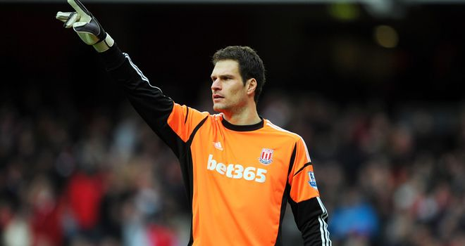 Asmir Begovic: Proud of making 100 appearances for Stoke