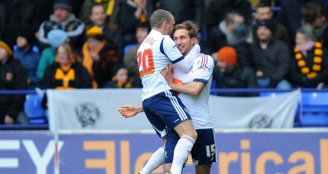 Craig Dawson (r): Celebrates with Jay Spearing