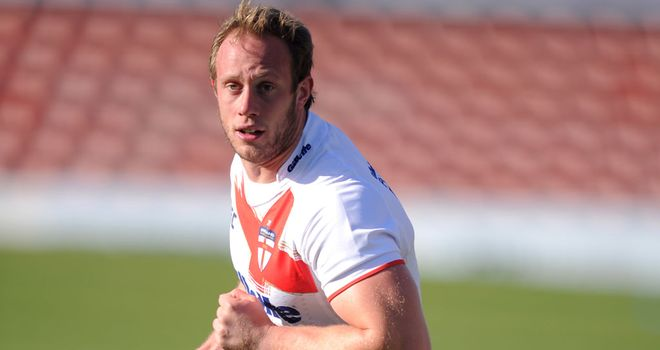 Chris Hill playing for England against Wales in October last year.