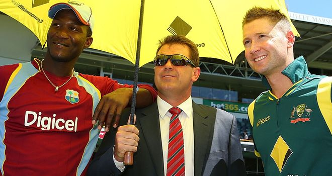 Sammy (left) was not smiling for long at the WACA, as his side were knocked over for 70