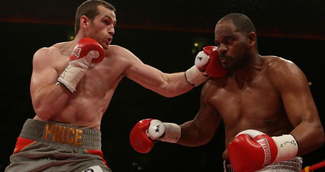 David Price (left) will be hoping to avenge his defeat to Tony Thompson (right) in their rematch in July