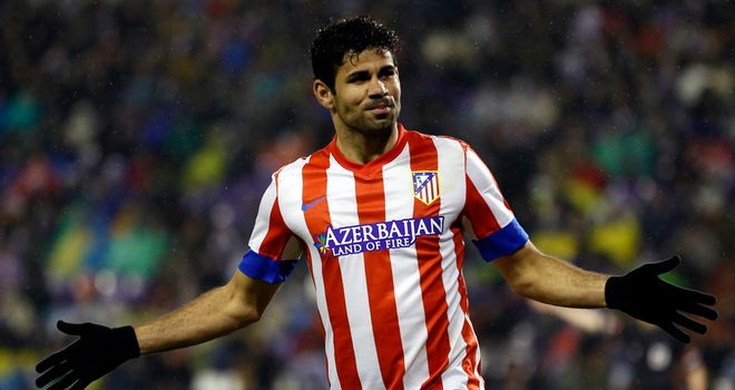 Diego Costa: Scored on his return to the Atletico side