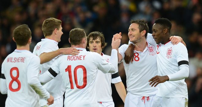 Frank Lampard: Celebrates his winner against Brazil