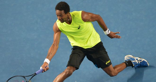 Gael Monfils: Hard-fought straight sets win for Frenchman in Houston